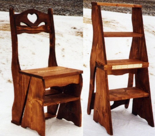 Amish Library Step Stool Chair Plans DIY Free Download
